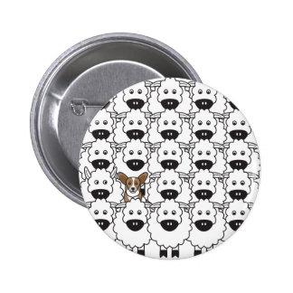 Cardigan Welsh Corgi in the Sheep Pinback Button