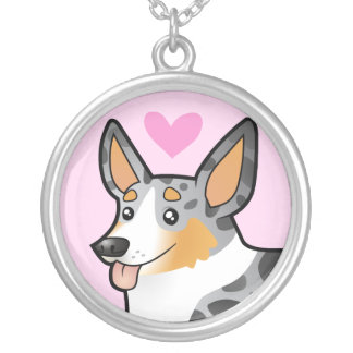 Cardigan Welsh Corgi Love Silver Plated Necklace