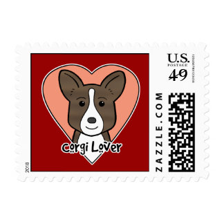 Cardigan Welsh Corgi Lover Postage Stamp