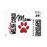 Cardigan Welsh Corgi Mom 2 Stamps