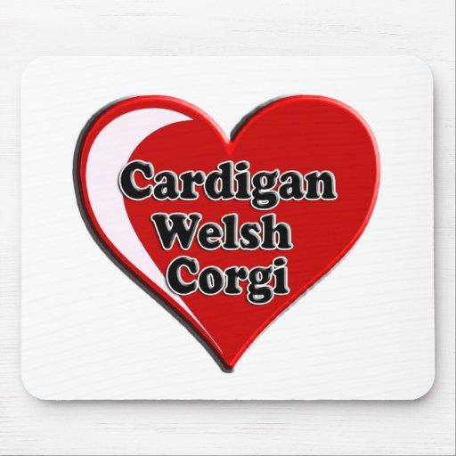 Cardigan Welsh Corgi on Heart for dog lovers Mousepad
