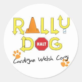Cardigan Welsh Corgi Rally Dog Classic Round Sticker