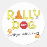 Cardigan Welsh Corgi Rally Dog Round Stickers