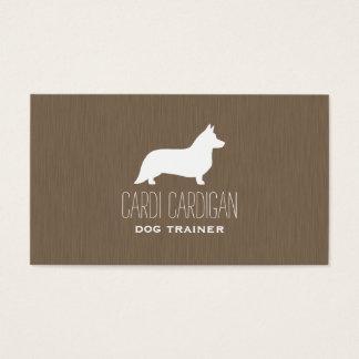 Cardigan Welsh Corgi Silhouette Business Card