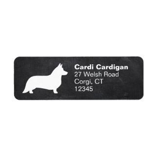 Cardigan Welsh Corgi Silhouette Label