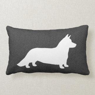 Cardigan Welsh Corgi Silhouette Throw Pillow