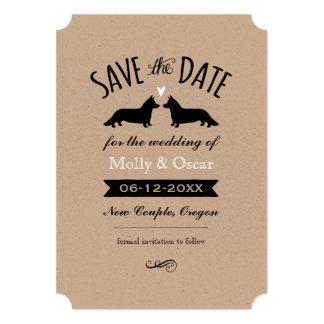 Cardigan Welsh Corgis Wedding Save the Date Card
