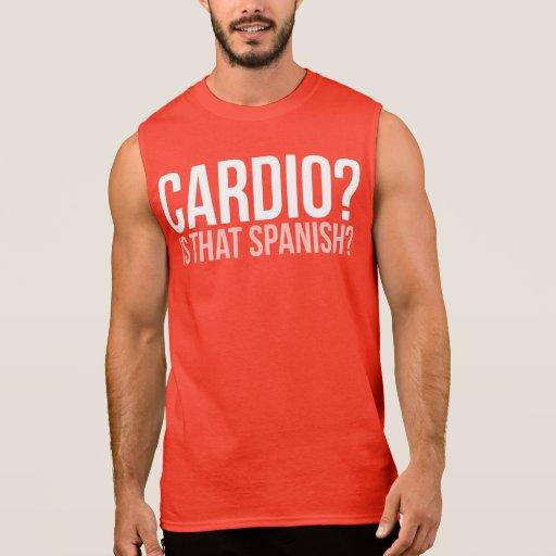 ¿Cardiio? ¿Es eso español? Camisetas Sin Mangas