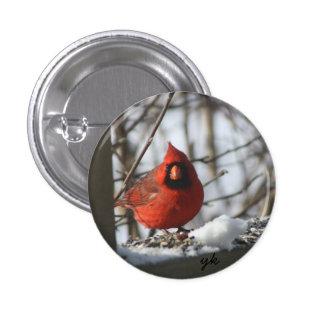 Cardinal 1 Inch Round Button