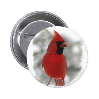 Cardinal 2 Inch Round Button