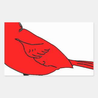 cardinal #2 rectangular sticker