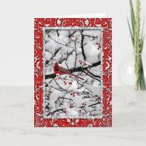 Cardinal 6153 Frame Christmas Card