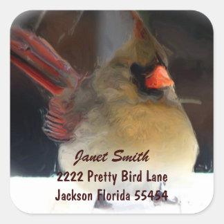 Cardinal Address Sticker