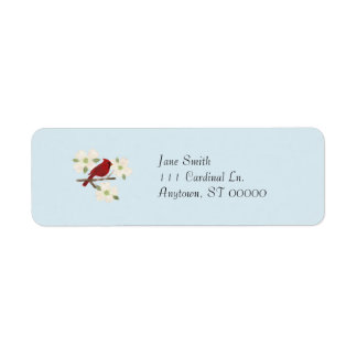 Cardinal and Dogwood Watercolor Address Labels