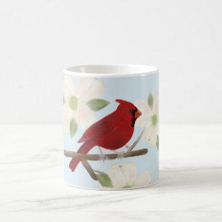 Cardinal and Dogwood Watercolor Mug
