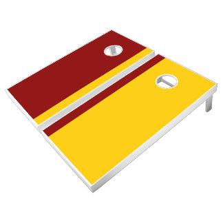 Cardinal and Gold Add Your Logo Cornhole Set