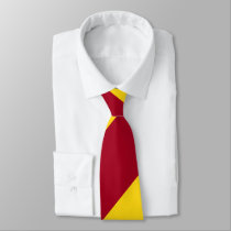 Cardinal and Gold Broad Regimental Stripe Tie