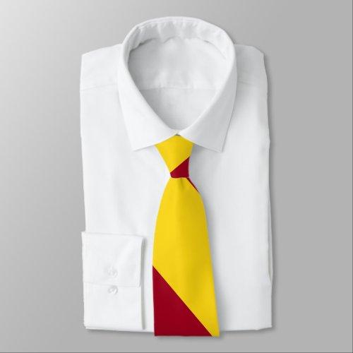Cardinal and Gold Broad University Stripe Neck Tie