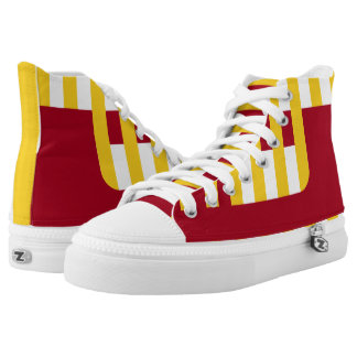 Cardinal and Gold Confined Hi-Tops