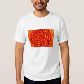 Cardinal and Gold Paint Spiral with Edges T-Shirt