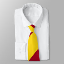 Cardinal and Gold Regimental Stripe Neck Tie