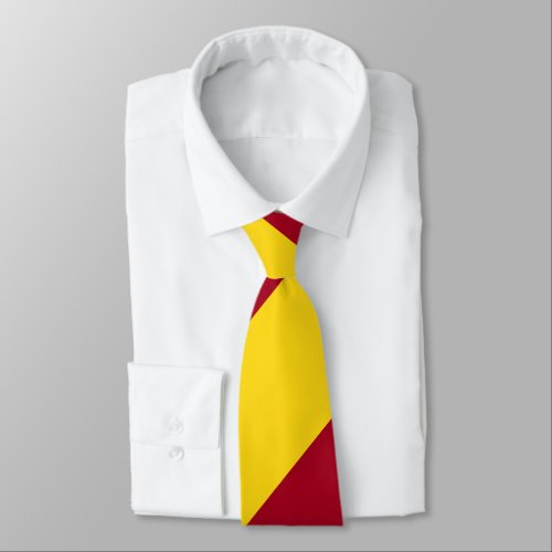 Cardinal and Gold Regimental Stripe Neck Tie