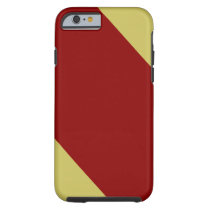 Cardinal and Gold Striped Tough iPhone 6 Case
