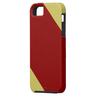 Cardinal and Gold Striped iPhone SE/5/5s Case