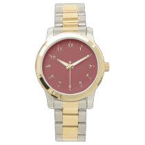 Cardinal and Gold Wrist Watch