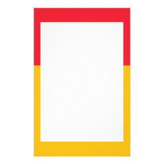 Cardinal and Golden Yellow Border Stationery