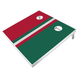 Cardinal and Green Add Your Logo Cornhole Set