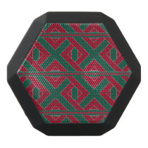 Cardinal and Green Knot Pattern Bluetooth Speaker
