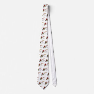 Cardinal and Horseshoe Vintage New Year Tie