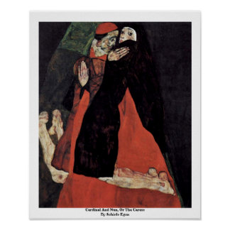 Cardinal And Nun, Or The Caress By Schiele Egon Posters
