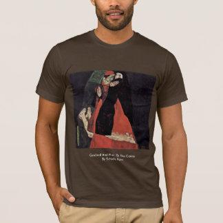 Cardinal And Nun, Or The Caress By Schiele Egon T-Shirt