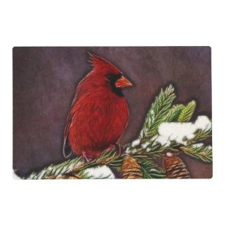 Cardinal and Pinecones Placemat