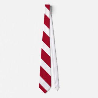 Cardinal and White II Diagonally-Striped Tie