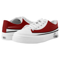 Cardinal and White Tres with Black Trim Lo-Top