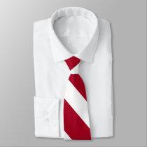 Cardinal and White University Stripe Tie