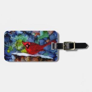 Cardinal At Night Bag Tag