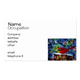Cardinal At Night Business Card