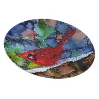Cardinal At Night Dinner Plate