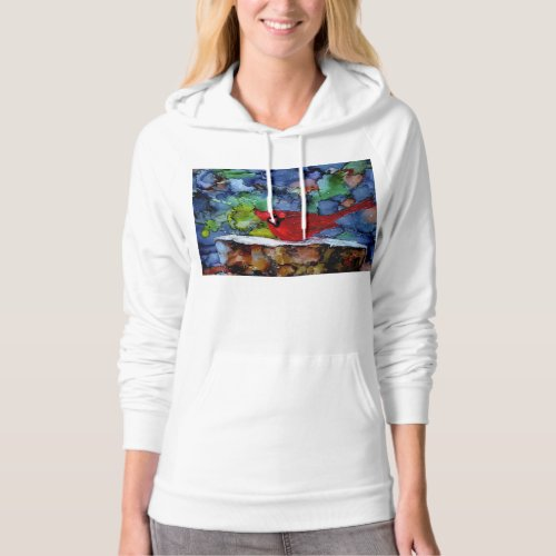 Cardinal At Night Hoodie