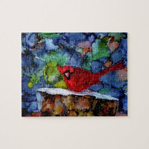 Cardinal At Night Jigsaw Puzzle