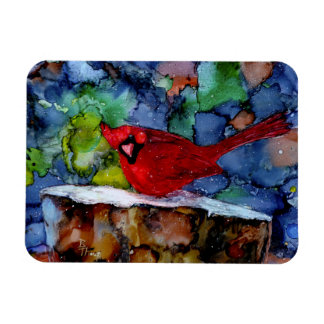 Cardinal At Night Magnet