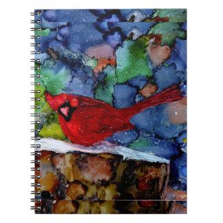Cardinal At Night Notebook