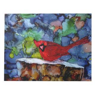 Cardinal At Night Notepad