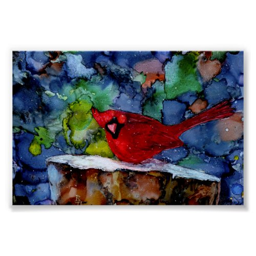 Cardinal At Night Poster