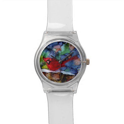 Cardinal At Night Wristwatch