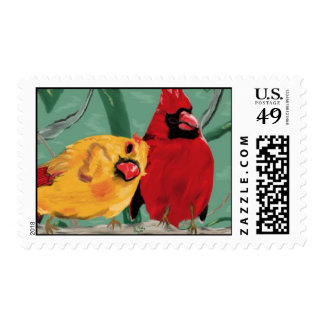 Cardinal Attraction postage